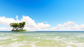 Untouched tropical sand beach Stock Photography