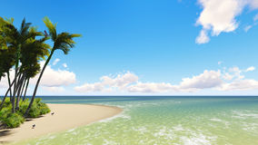 Untouched tropical sand beach Stock Images