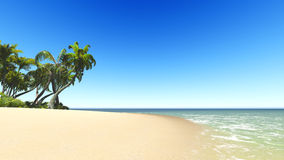 Untouched tropical sand beach Stock Photo