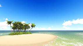 Untouched tropical sand beach Royalty Free Stock Photo