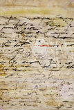 Untranslatable Schreiben auf altem Pergament Stockfotografie
