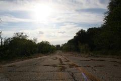 Untraveled Straße Stockfotos
