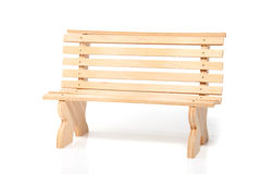 An untreated wooden garden bench Royalty Free Stock Photos