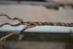 Untwisted rope with loose end stock photography
