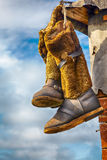 Unty, Mukluk - traditional high fur boots Stock Photography