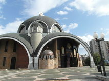 Untypical church building in Skopie, Macedonia Royalty Free Stock Images