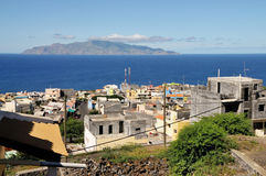 Ununterbrochen Erweiterungsstadt von Sao Filipe stockbild