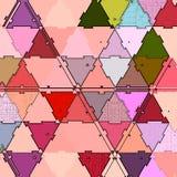Ununterbrochener Druck der bunten Dreiecke für Babygewebe stock abbildung