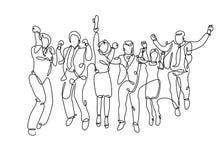 Ununterbrochener gezogener Geschäftsbereich Team lizenzfreie abbildung