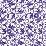 Ununterbrochenes Muster ob blaues Spitzekaleidoskop Lizenzfreie Stockfotos