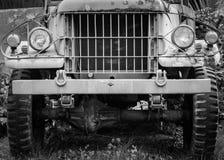 Unusable old truck in the garden Stock Photos