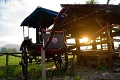 Unused Abandoned horse cart carriage stock image