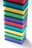 Unused colorful sponges for washing dishes Royalty Free Stock Photos