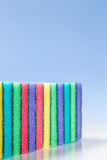 Unused colorful sponges for washing dishes Royalty Free Stock Photography
