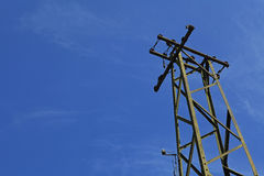 Unused electric pole, power pole Royalty Free Stock Images