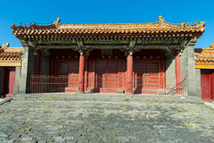 Unused gate - Forbidden city. Royalty Free Stock Image