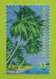 Unused Marshall Islands postage stamp. Unused postage stamp of the Marshall Islands. 2000 Christmas mint issue Stock Image