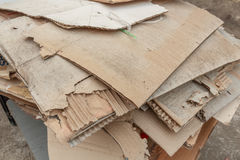 Unused paper box. Pile of old unused paper box for recycle Royalty Free Stock Images