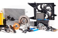 Unused parts for vehicle stock photography