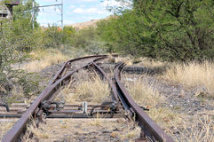 Unused railroad switch Stock Photos