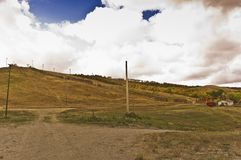 Unused ski hill in Saskatchewan. An abandoned ski hill in the Buffalo Pound Provincial Park, Saskatchewan, Canada Royalty Free Stock Images