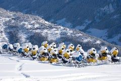 Unused snow cannons Stock Image
