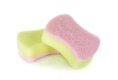 Unused sponge on white background. Unused sponge on awhite background stock images