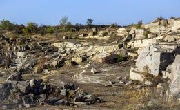 Unused stone quarry Royalty Free Stock Photos