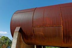 Unused Vintage Oil Storage Tanks Royalty Free Stock Photos