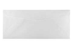 Unused white letter size envelope isolated Royalty Free Stock Photos