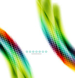 Unusual abstract background - blurred wave. On white, shiny template with dot texture stock illustration