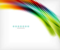 Unusual abstract background - blurred wave. On white, shiny template with dot texture Stock Image