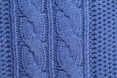 Unusual abstract knitted background texture. Unusual abstract blue knitted background and texture Stock Photography
