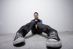 Unusual angle of a young man Royalty Free Stock Photos