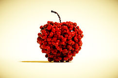 Unusual apple concept. 3d render image of lots of fruit in apple shape Royalty Free Stock Photo