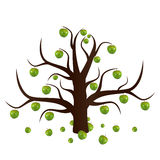 The unusual apple-tree. The unusual, magic isolated apple-tree. Vector illustration vector illustration