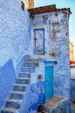 Unusual architecture in blue colour. Royalty Free Stock Images