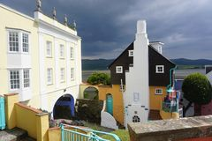 Unusual architecture in Portmeirion in North Wales Stock Images