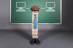 Artificial Intelligence funny education concept Stock Photos