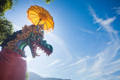 Unusual background of mystical dragon Stock Images