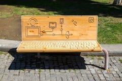 Unusual bench Stock Image
