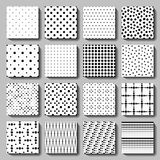 Unusual black white polka dot pattern set. Unusual black and white vector polka dot patterns set. Abstract seamless patterns. Backgrounds for fabric print vector illustration