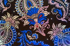 Unusual botanic paisley pattern. An ornate and very elaborate pattern of flowers and leaves Stock Images