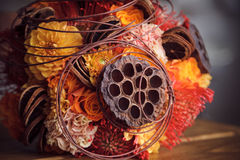 Unusual bouquet for autumn wedding Stock Photo