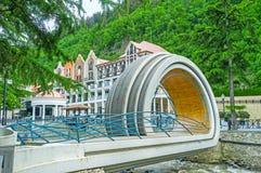 The unusual bridge in Borjomi Stock Photography