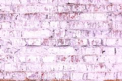 Abstract purple background from old brick wall in retro style stock photography