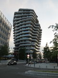 Unusual building. Marc O'Polo. Hamburg, Germany stock photo