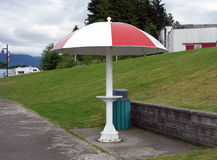An unusual bus shelter in british columbia Royalty Free Stock Photo