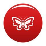 Unusual butterfly icon vector red. Unusual butterfly icon. Simple illustration of unusual butterfly vector icon for any design red vector illustration
