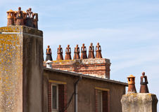 Unusual Chimney Pots Royalty Free Stock Images